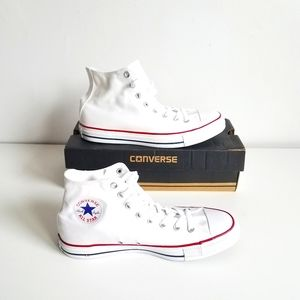 CONVERSE HIGH TOP WHITE SNEAKERS MEN'S  SIZE 9